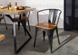 Stuhl Altholz 45x45x85 mehrfarbig lackiert INDUSTRIAL #63