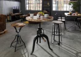 Tisch Altholz 75x75x75 mehrfarbig lackiert INDUSTRIAL #21
