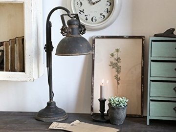 Tischlampe aus Metall Industrie Fabrik Style Shabby Vintage, Chic Antique -