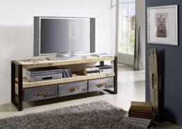 TV-Board Mango 150x40x60 natur bedruckt FACTORY #106