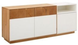WHITEOAK GROUP Sideboard »Lanzo«, aus massivem Eichenholz in hochwertiger Verarbeitung