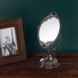 Vintage Make-up Spiegel Floral Tischplatte Oval Kosmetikspiegel