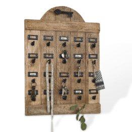 LOBERON Schlüsselboard Kardifa, antikbraun (5 x 50 x 70cm)