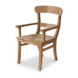 LOBERON Stuhl mit Armlehne Masters, antikbraun (54 x 56 x 92cm)