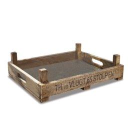 LOBERON Tablett Stolpen, braun (40 x 50 x 14cm)