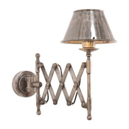 LOBERON Wandlampe Quimper, antiksilber (42cm)