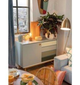 TOM TAILOR Sideboard »COLOR BOX«, mit 1 Tür & 4 Kontrast-Schubladen, Füße Eiche geölt, Breite 114 cm