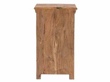 Woodkings® Bad Unterschrank Perth recyceltes Holz bunt rustikal Echtholz weiß massiv Badmöbel Badezimmerunterschrank Badschrank -