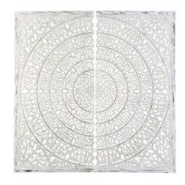 2-teilige Wanddeko, geschnitzt 241x240