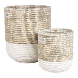 2 Wäschekörbe aus Naturfaser