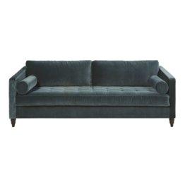 3-Sitzer-Schlafsofa mit Samtbezug, grün Malik