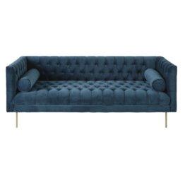 3-Sitzer-Sofa mit Samtbezug, petrolblau Liam