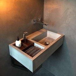 Betonwaschbecken/Beton Design Waschbecken/Aufsatzwaschbecken 100% Beton 70x40x16 cm