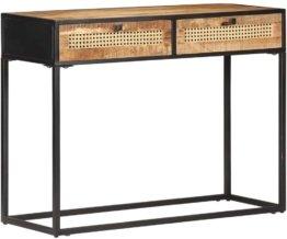 Konsolentisch Konsole Beistelltisch Sideboard Flurtisch Wandtisch Frisiertisch Ablagetisch 100x35x75cm Wiener Geflecht