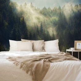 Fototapete Wald Nebel 180 x 270 cm Vlies
