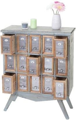 Apotheker-Schrank  Kommode, Tanne Holz massiv Vintage Shabby-Look 94x73x32cm