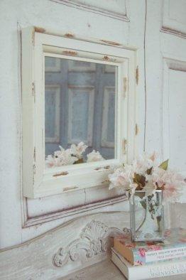 Landhause Spiegel, Wandspiegel Leonie im Antique Shabby chic Stil