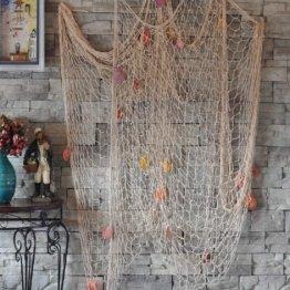 Dekoration Fischnetz mit Muscheln Maritime