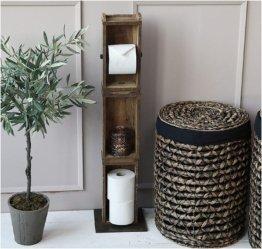 Chic Antique Toilettenpapier Klorollen- Halter Ständer 3 Ziegelformen 41483-00 95cm Hoch