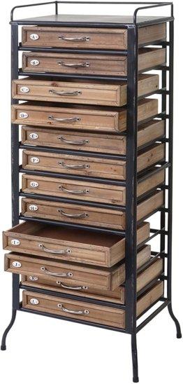 Apotheker-Schrank Tanne Holz massiv Vintage Shabby-Look 129x55x38cm