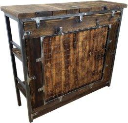 BarMöbel SAMBOR Loft Vintage Bar Industrie Design Handmade Holz Metall (THEKE -160 cm)