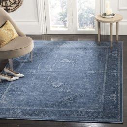 Safavieh Vintage Inspirierter Teppich, VTG114, Gewebter Viskose, Blau, 160 X 230 cm
