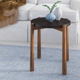 Beistelltisch Holz schwarz