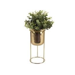 Blumentopf Tub aus Metall Present Time Farbe: Gold
