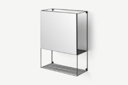 Calpyso Regal mit Spiegel, Schwarz - MADE.com