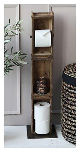 Chic Antique Toilettenpapier Klorollen- Halter Ständer 3 Ziegelformen 41483-00 95cm Hoch -