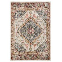 Flachgewebe-Teppich Durr in Cremefarben World Menagerie