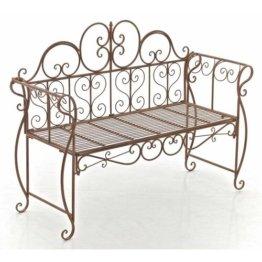 Gartenbank aus Eisen Astoria Grand Farbe: Braun antik