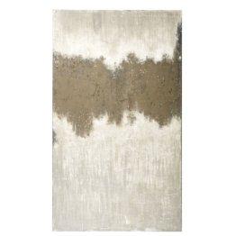 Gemaltes Leinwandbild, braun vergraut und beige 150x250