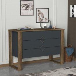 Kommode grau Holz klassisch