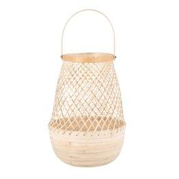 Laterne aus geflochtenem Bambus