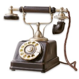LOBERON Deko-Telefon Upavon, schwarz (20 x 25 x 25cm)