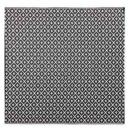 Outdoor-Teppich mit schwarzen und weißen Grafikmotiven 180x180