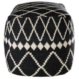 Puff aus Baumwolle mit schwarzen und weißen Motiven 45x45x45cm