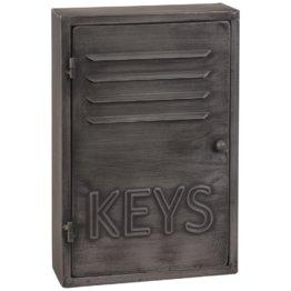 Schlüsselbox im Industrial-Stil aus grauem Metall