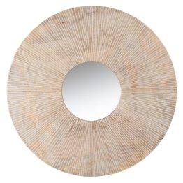 Spiegel, braun und ecrufarben D70