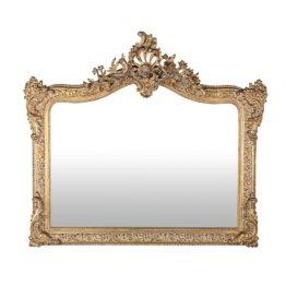 Spiegel mit goldfarbenem Zierrahmen 114x100 antik