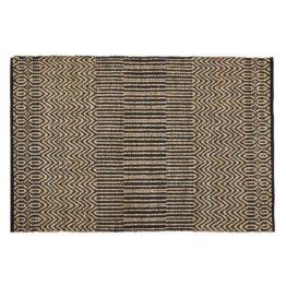 Teppich aus Jute und Baumwolle und gemustert, grau und ecru 160x230