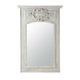 Trumeau-Spiegel aus Holz grau H180 GARANCE