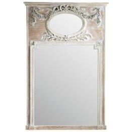 Trumeau-Spiegel aus Paulownienholz 106x160