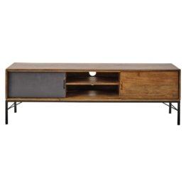 TV-Möbel aus Mangoholz und schwarzem Metall Arty