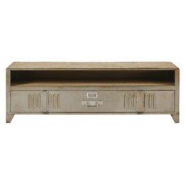 TV-Möbel im Industrial-Stil mit 1 Tür aus Metall und Mangoholz Rydell