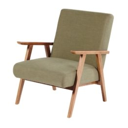 Vintage-Sessel, khakigrün Hermann