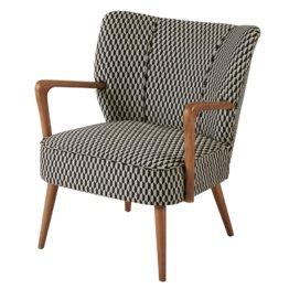 Vintage-Sessel mit schwarzen und weißen grafischen Motiven Meyer