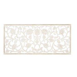 Wanddeko geschnitzt, weiß 180x80