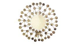 Wanddekoration mit Teelichthalter ¦ gold ¦ MetallØ: 32.5 Dekoration > Laternen & Windlichter - Höffner